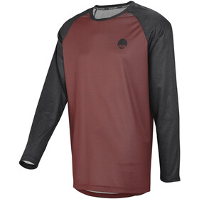 IXS Flow Pitkähihainen Jersey Miehet, night red/black